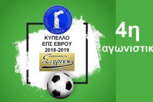 4η αγωνιστική κυπέλλου «ΣΙΓΡΕΚΗΣ» ΕΠΣ Έβρου