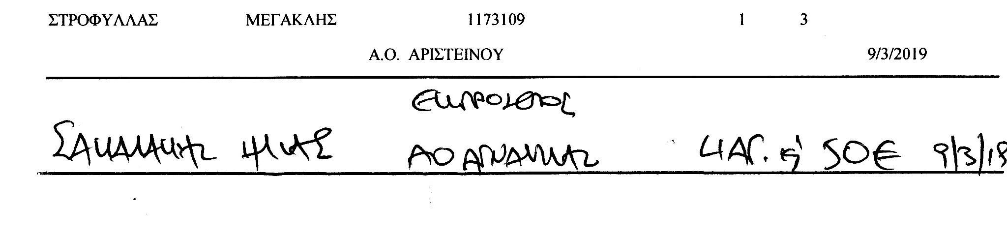 Ποινές ποδοσφαιριστών ΕΠΣ Έβρου (αποφ. 13/14-03-2019)
